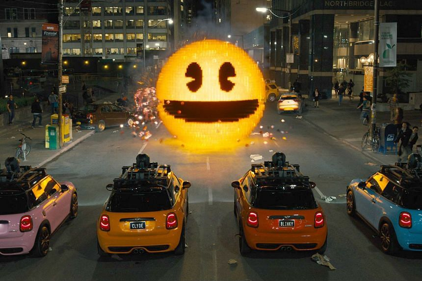Aliens take the form of arcade game characters such as Pac-Man (above) to attack Earth. Peter Dinklage (with his wife Erica Schmidt) says he has never had trouble turning down acting roles he was not interested in.