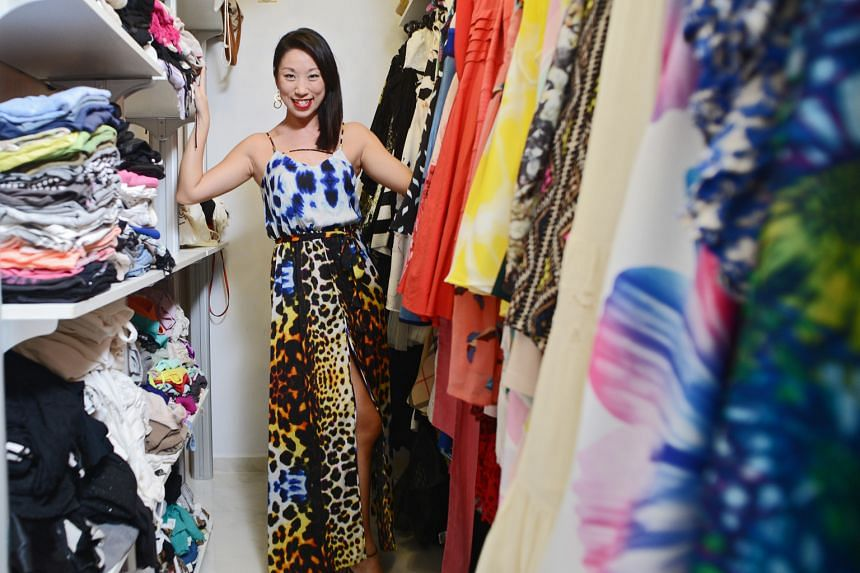 One of Ms Pamela Seow's favourite fashion pieces is a blue and orange leopard print maxi dress from River Island (above).