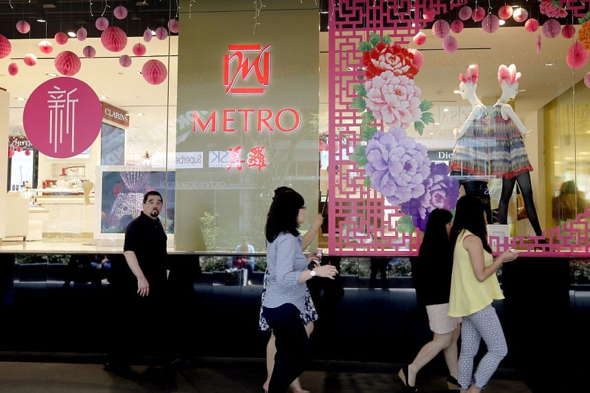 Metro's Centrepoint store (left) commenced operations in the third quarter of the financial year ended March 31. It has driven the higher turnover experienced by the group's retail division.