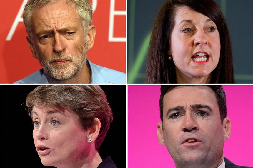The candidates vying for the Labour Party leadership are (from top) Mr Jeremy Corbyn and the more centrist Ms Liz Kendall, Mr Andy Burnham and Ms Yvette Cooper. Bookmakers and opinion polls tip Mr Corbyn to win.