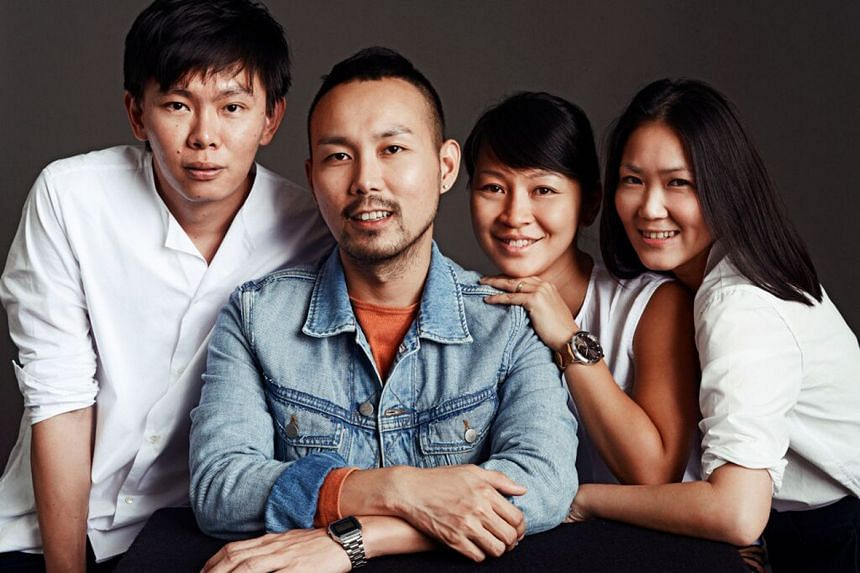 Started by (above from left) Sven Tan, Kane Tan, Julene Aw and Jaclyn Teo, local womenswear label In Good Company offers outfits with modern designs and clean silhouettes (left).