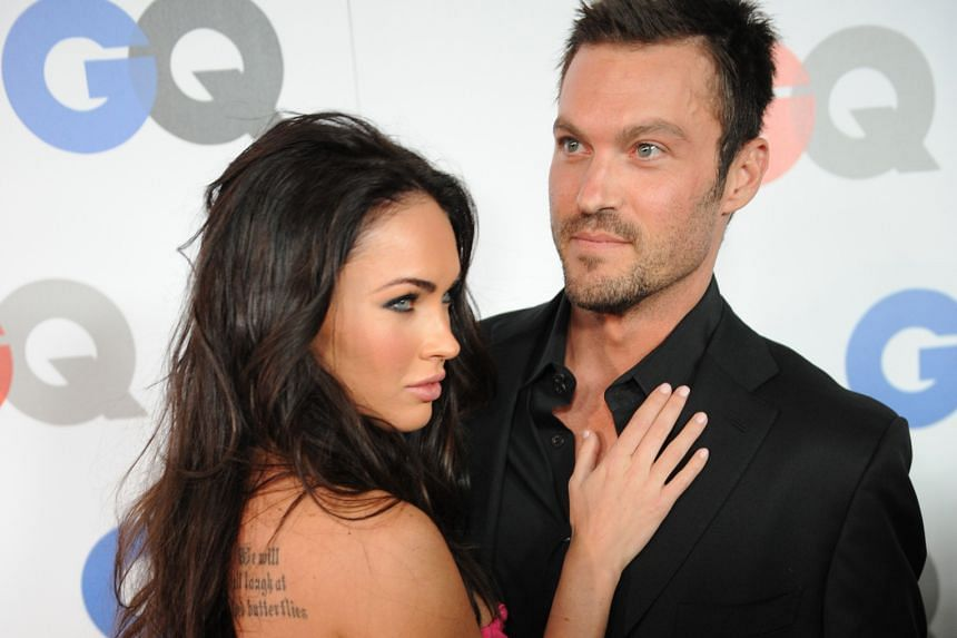 Happier times: Megan Fox and husband Brian Austin Green at the GQ Men of the Year party in November 2008.