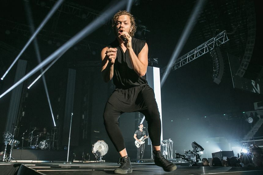 Imagine Dragons Dan Reynolds' raspy vocals and stage presence helped to rev up the crowd.