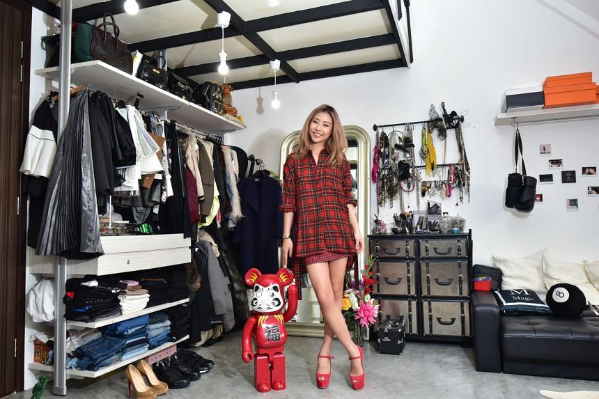 """Saint Laurent studded jacket Hermes Birkin bag Boohoo bralet Social media personality Mae Tan says she is now in a """"throwback to the 1970s"""" phase, which includes bell bottoms, suede and crop tops. Topshop shorts Fendi Peekaboo Micro bag Christian L"""
