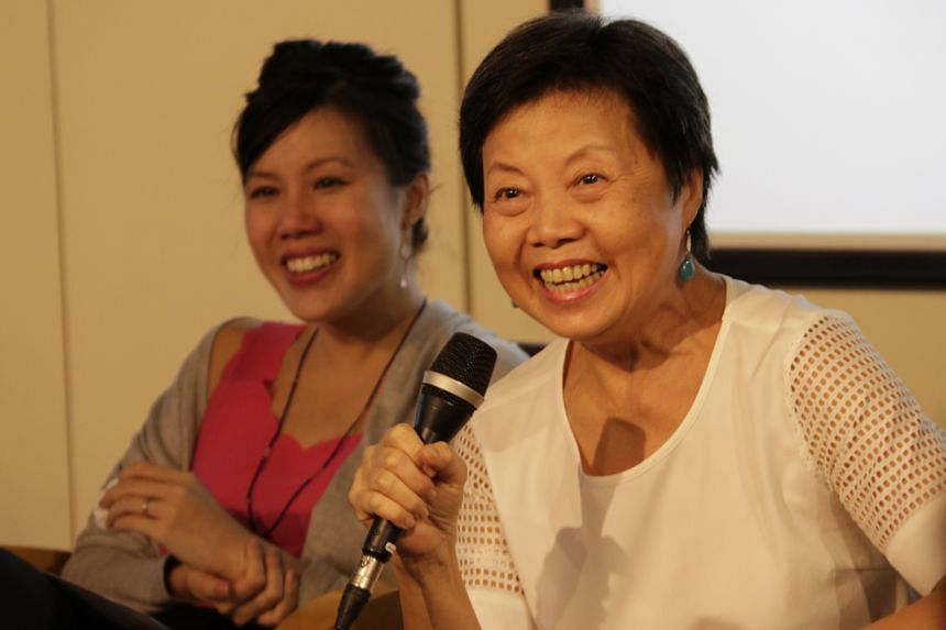 Writing duo, Teh Su Ching (left) with her mother Leong Liew Geok.
