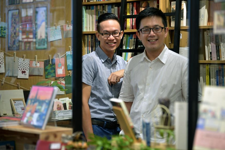 The Select Centre is co-founded by former Arts House director William Phuan (left) and Mr Tan Dan Feng.