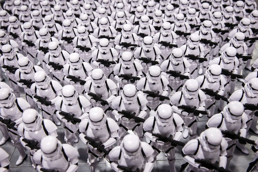 Stormtrooper figures on display this month at the D23 Expo 2015 in Anaheim, California.