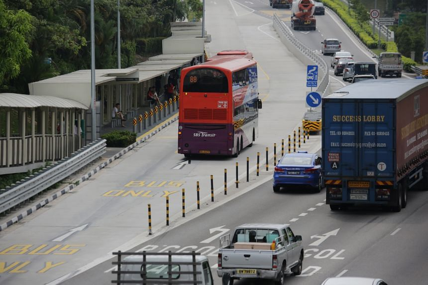 With the changes, drivers will be able to travel on the outer of the two bus lanes while giving way to public buses where necessary, at the TPE exit towards Seletar Expressway, near the Punggol Flyover.