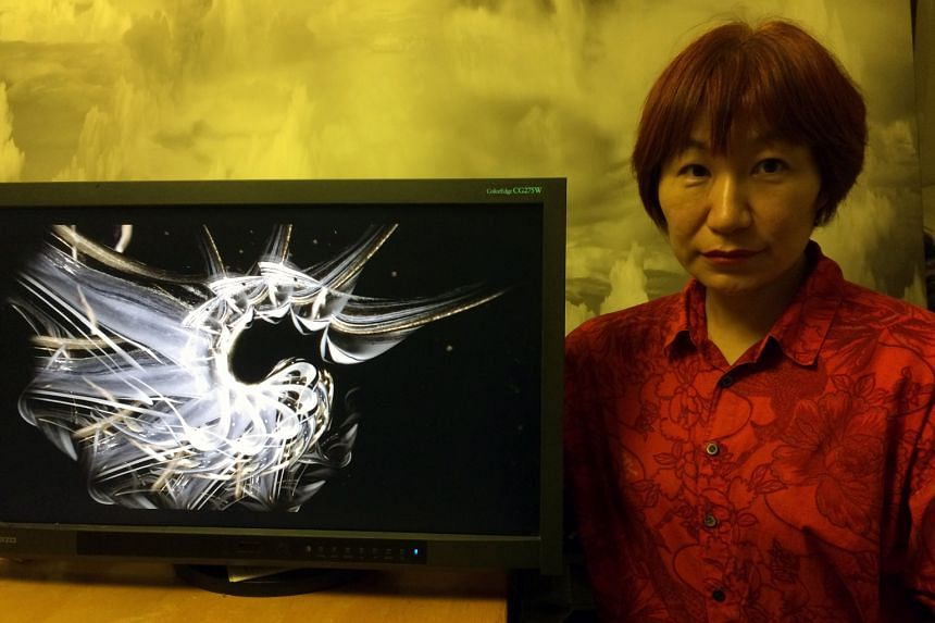 Naoko Tosa (left) reinterprets traditional Japanese culture through new video works.