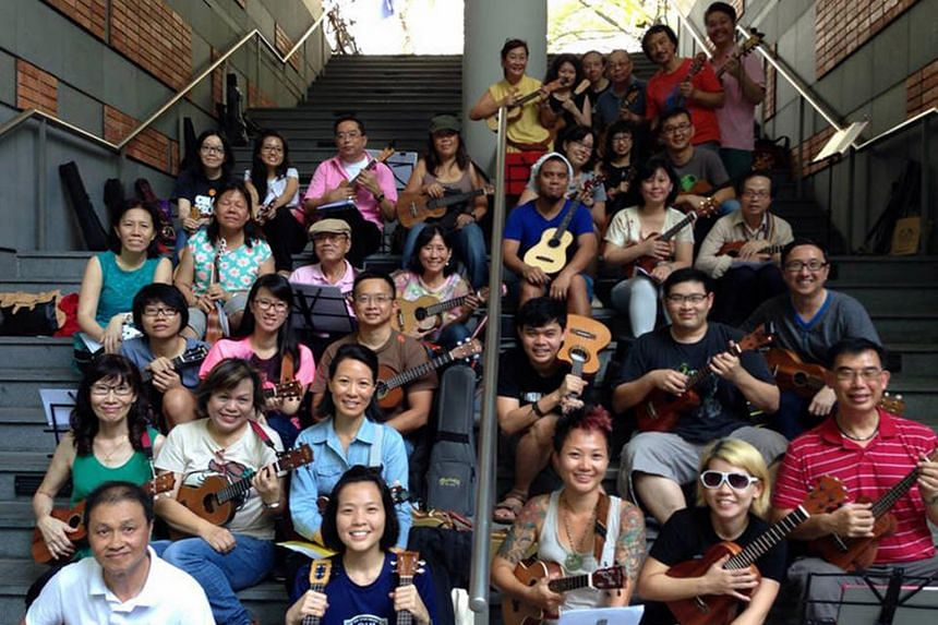 The Ukulele Assemble organises monthly jamming sessions to play the instrument together, and will be participating in Park(ing) Day on Sept 18.