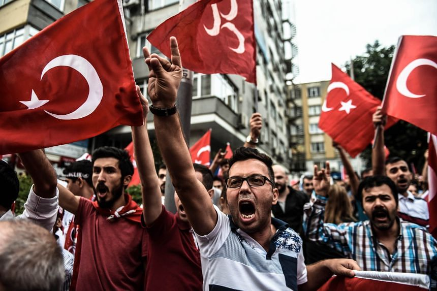 Turkish nationalists demonstrating against the Kurdistan Workers' Party in Istanbul on Tuesday.