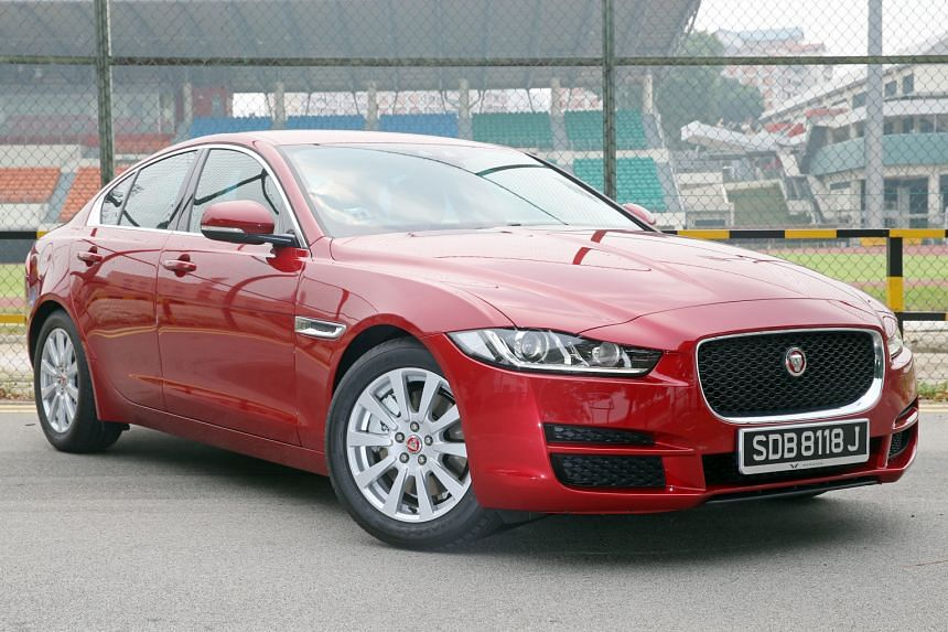 The Jaguar XE has a big and dignified road presence.