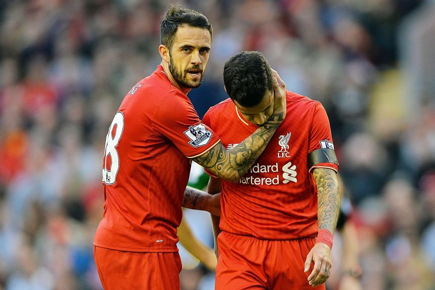 Above: Danny Ings consoling Philippe Coutinho after the poor 1-1 draw with Norwich. Left: The appointment of James Milner as Reds captain highlights a shortage of leaders.