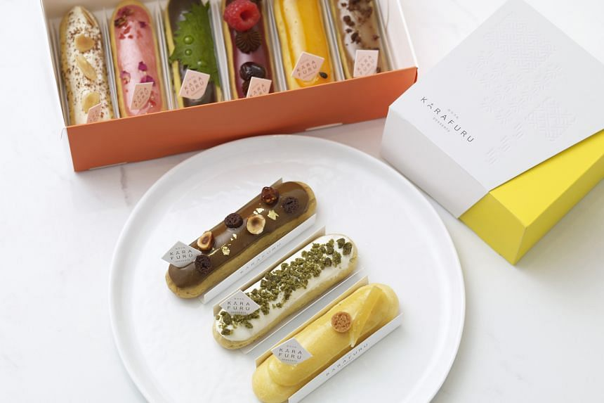 The dainty and elegant eclairs at month-old Karafuru are almost too pretty to eat, says Food Correspondent Rebecca Lynne Tan.