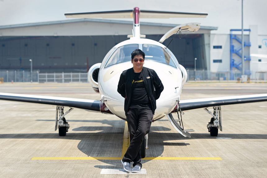 Mr Fabian Lim paid US$2.5 million for his Eclipse 500 jet, which is about the price of his three-bedroom condominium in Somerset.