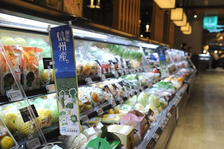 Emporium Shokuhin's fresh produce includes a wide range of vegetables, fruits and condiments.