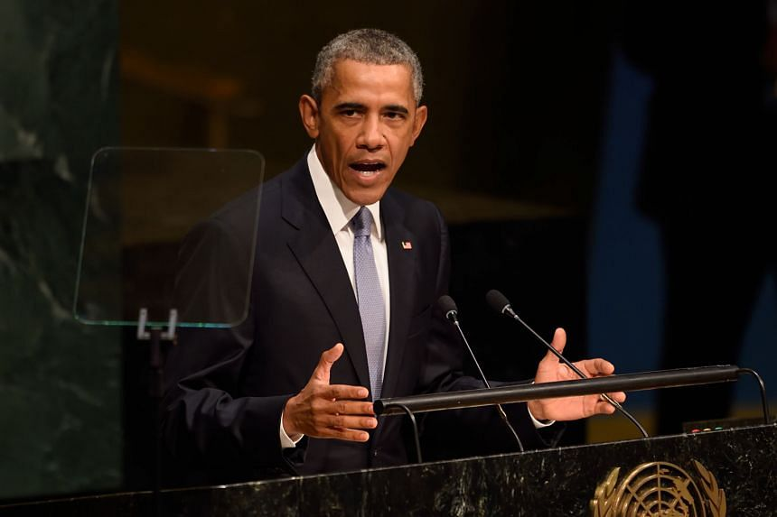 At the UN, Mr Barack Obama cast Russia's annexation of Crimea and Chinese aggression in the South China Sea as attempts to forsake the world order established over 70 years ago by the assembly.