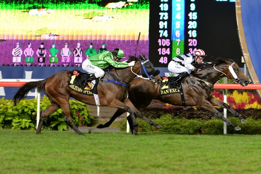 The SIA Cup (above) and KrisFlyer International Sprint were Singapore's only international Group One races, a status denoting the highest level of thoroughbred stakes.