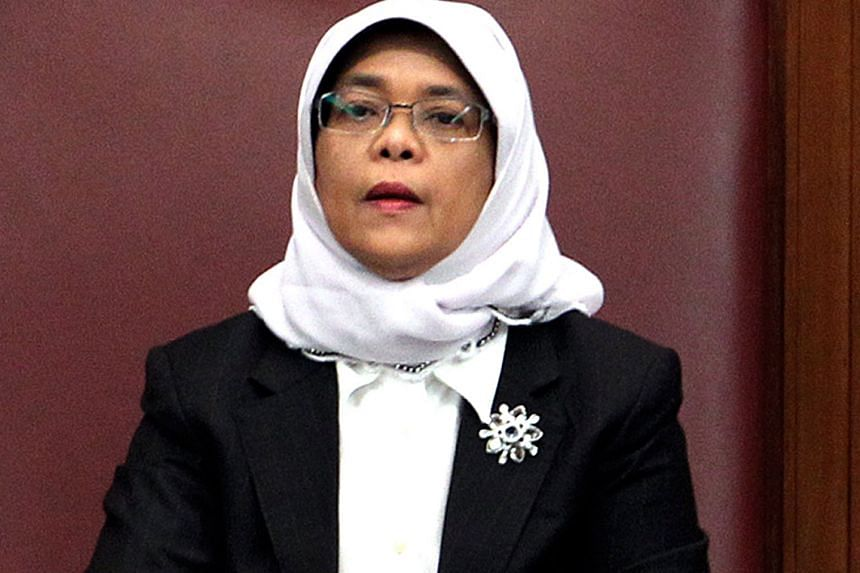 """Madam Halimah said she was grateful for the chance to preside again over """"robust debates'' in the House."""