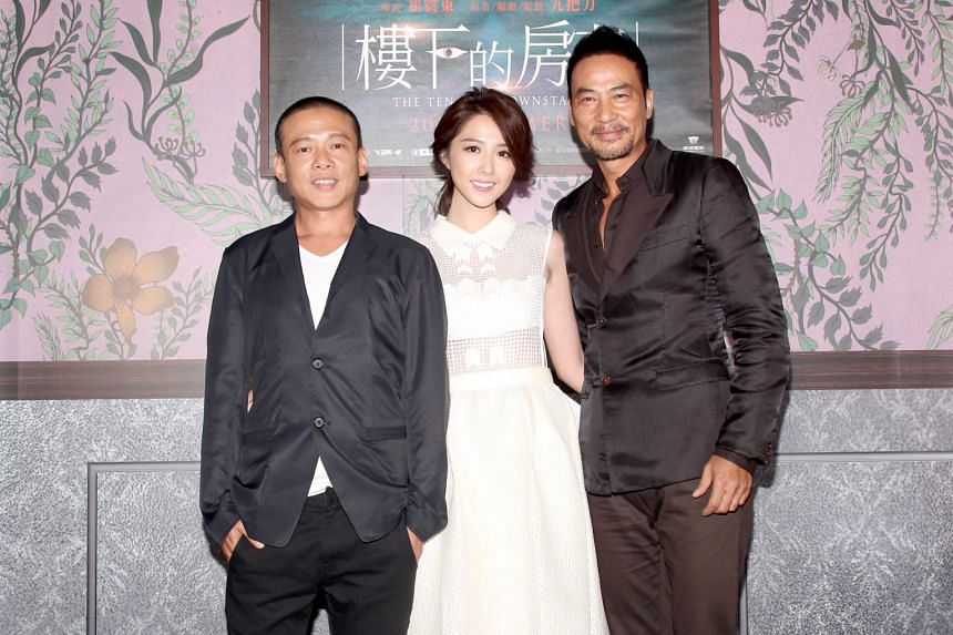 To be based on writer-director Giddens Ko's book, the movie The Tenants Downstairs will star (from far left) Lee Kang-sheng, Shao Yu-wei and Simon Yam.