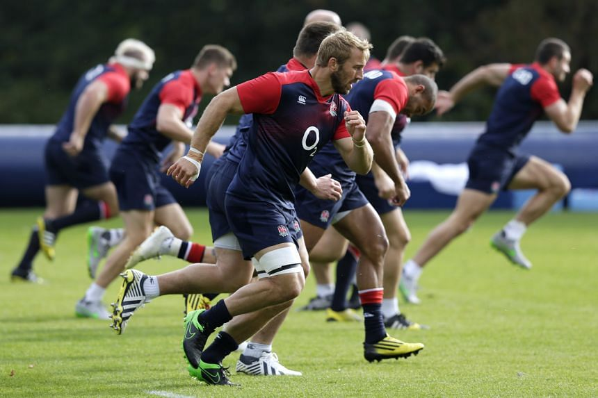 England captain Chris Robshaw (front) wants to use the match against Australia to silence critics. England cannot afford to lose again after an earlier group defeat by Wales.