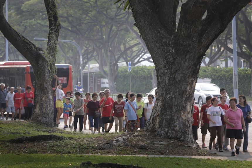 More than 1,000 Bedok residents got up early for a 2.5km walk around their area yesterday. The 7.30am event was part of a carnival organised to raise awareness of health issues, including managing chronic conditions through medication and lifestyle c