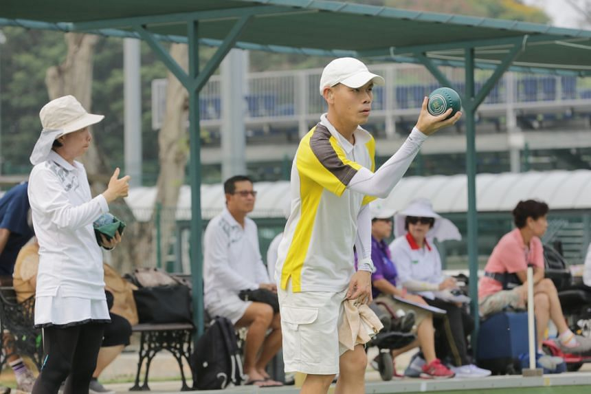 Ahead of December's Asean Para Games in Singapore, national lawn bowlers and their club counterparts sharpened up by competing in the President's Challenge Trophy at the Kallang Green yesterday. Singapore Cricket Club's Melvin Tan (above) claimed the