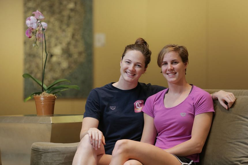 As adults, sisters Cate (far left) and Bronte Campbell restrict their sibling rivalry largely to the pool. The 100m freestyle final in Kazan in this year's World Championships was one of the biggest occasions where Bronte upstaged her older sister.