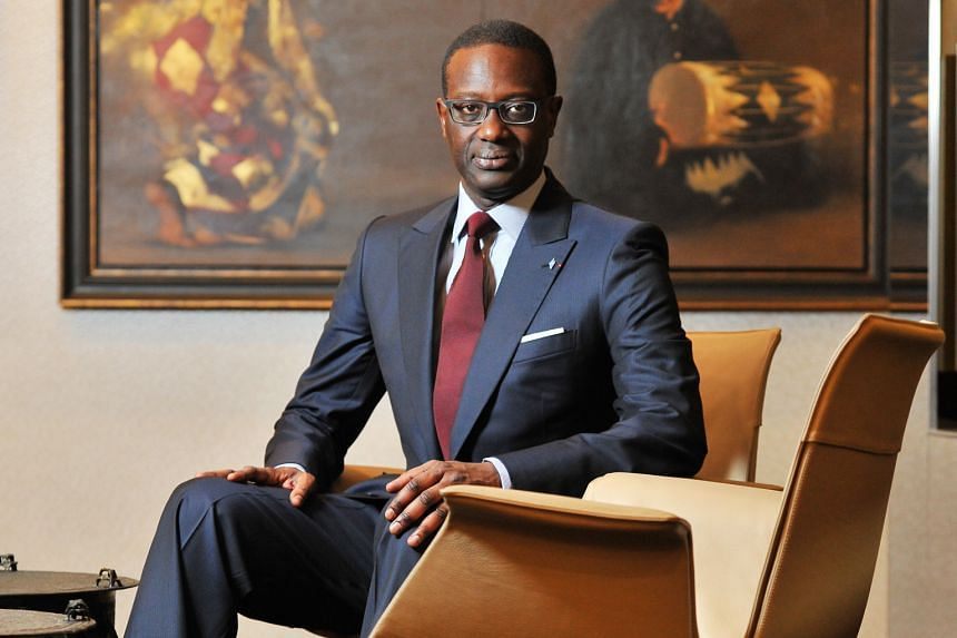 Mr Tidjane Thiam's appointment as Credit Suisse CEO saw its shares jump 20 per cent shortly after.