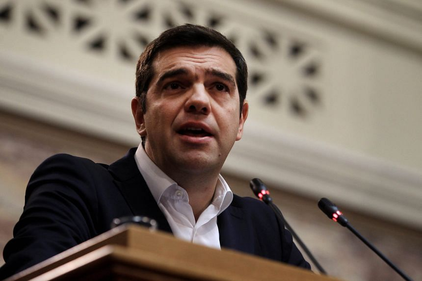 Government officials said Prime Minister Alexis Tsipras will tell Parliament that Greece will stick to the bailout, fight corruption and reform the state.