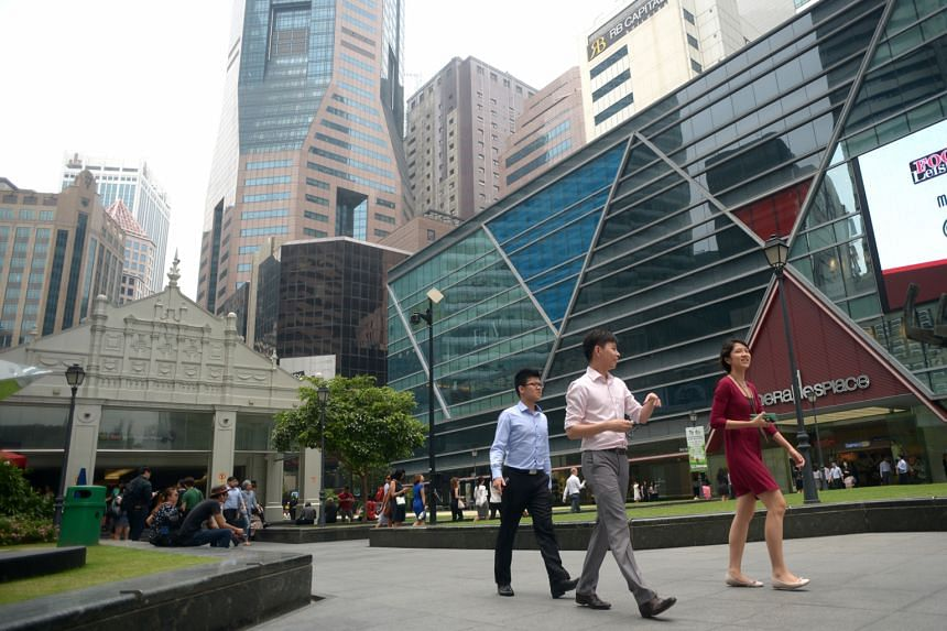 Average monthly gross rents in Raffles Place (above) fell but office occupancy there inched up. However, in the Marina Bay area, average monthly gross rents and office occupancy were lower.