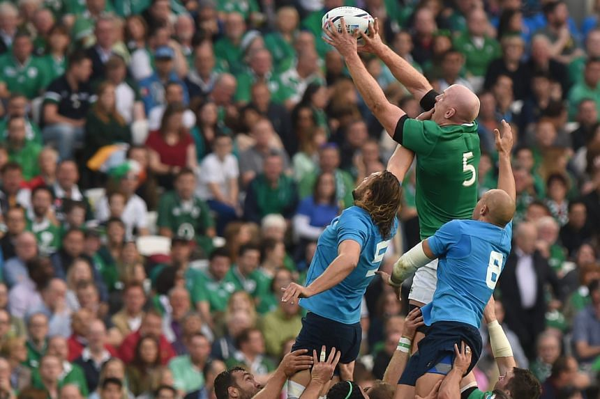 Ireland, with Paul O'Connell (top) reaching for the ball against Italy, will have every motivation to beat France on Sunday to avoid a likely quarter-final clash with defending champions New Zealand.