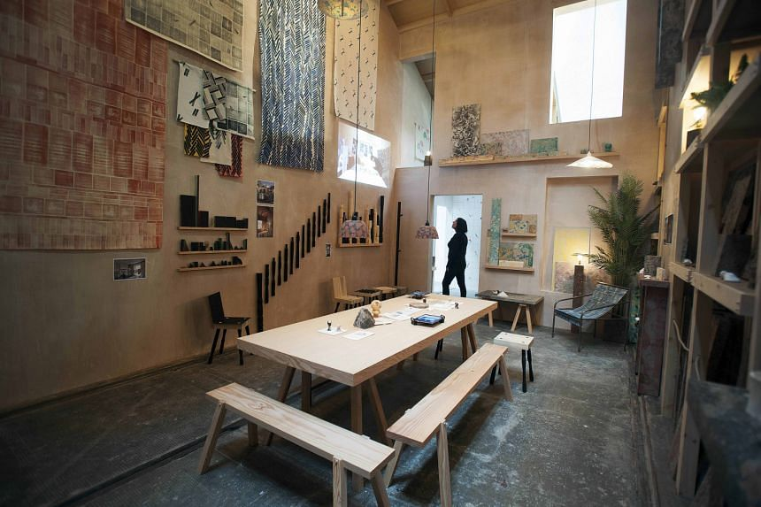 The work, A Showroom For Granby Workshop (left), is by London- based group Assemble, which includes (below, clockwise from far left) Lewis Jones, Amica Dall, Fran Edgerley, Nicole Wermers, Janice Kerbel and Bonnie Camplin.