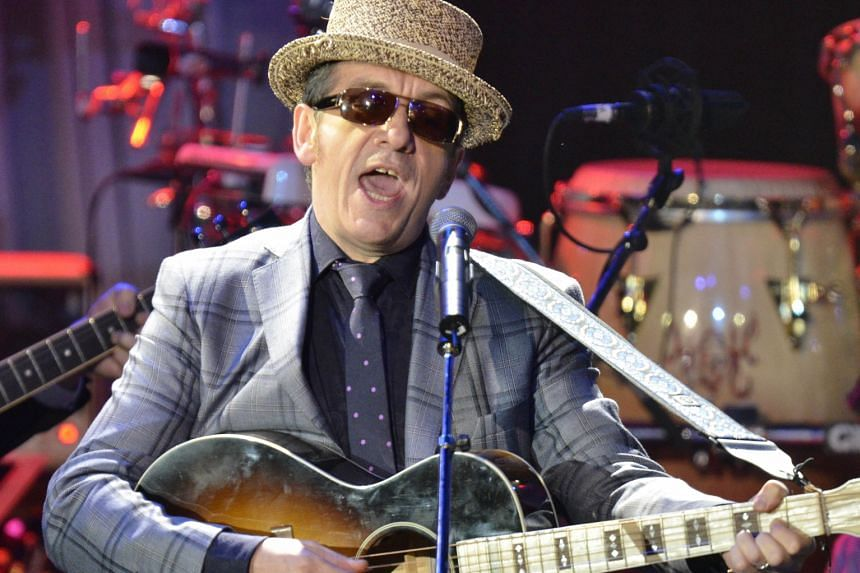 Elvis Costello (left) and his new book (above).