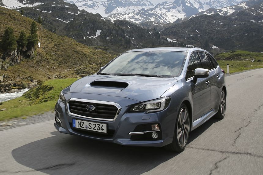 The Subaru Levorg has a pretty profile and comes with nifty features that include being able to lock and unlock with the key in the car.