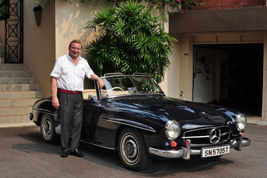 Mr Gunther Meyer has driven his 1958 Mercedes-Benz 190SL to Penang.