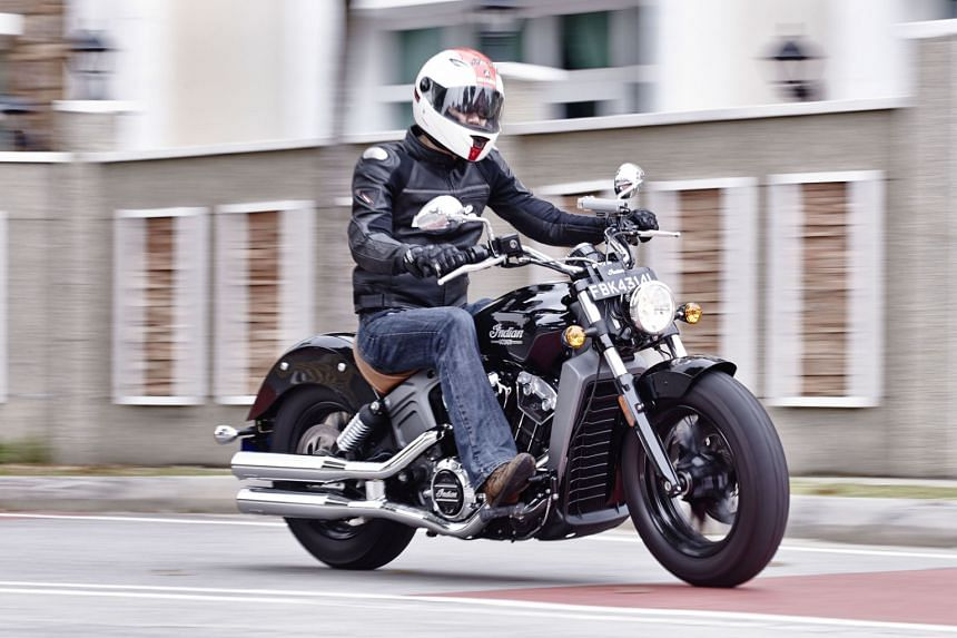 The Indian Scout is an agile machine with a low centre of gravity.