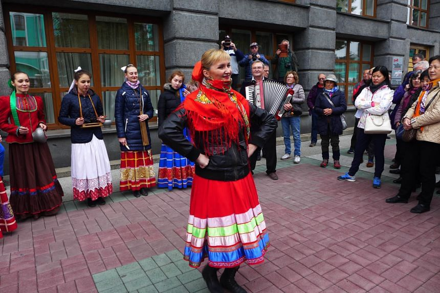A welcome dance at the Siberian city of Novosibirsk.
