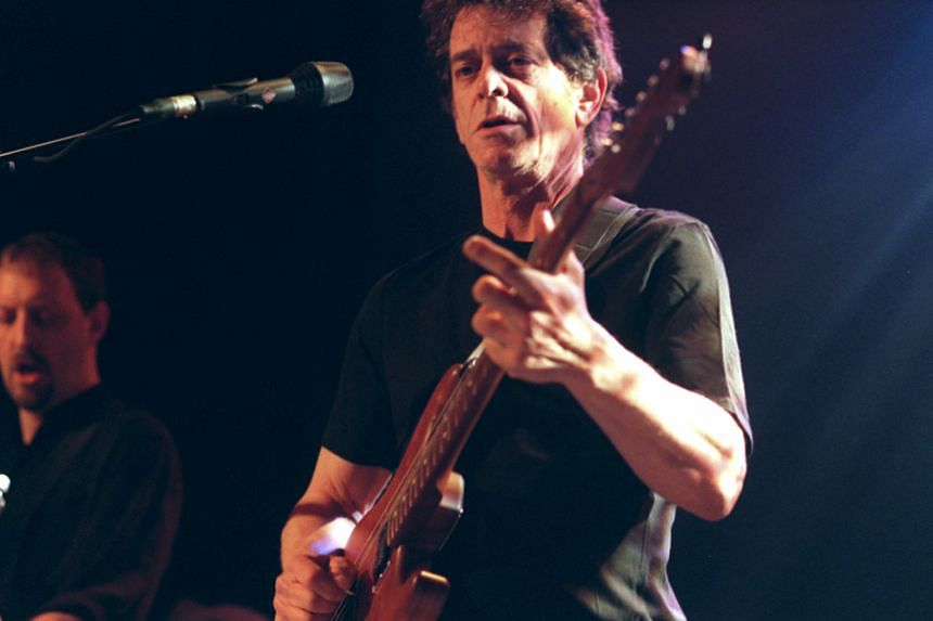 Lou Reed performing at the Knitting Factory in New York in 2000.