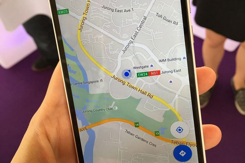 An improved version of the Google map will be available for Apple products also.