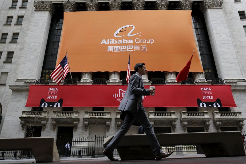Alibaba (left) took its US$25 billion listing to New York last year. Facebook (above) also has two classes of shares.