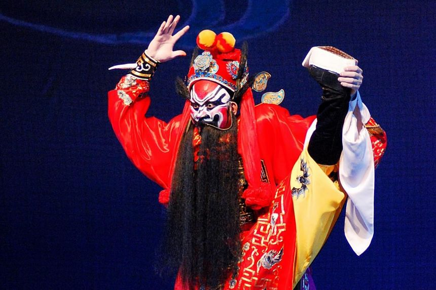 Top Cantonese opera stars Lam Tin Yau (far left ) and Li Qiuyuan will perform at the theatre as part of events held to celebrate its 45th anniversary.