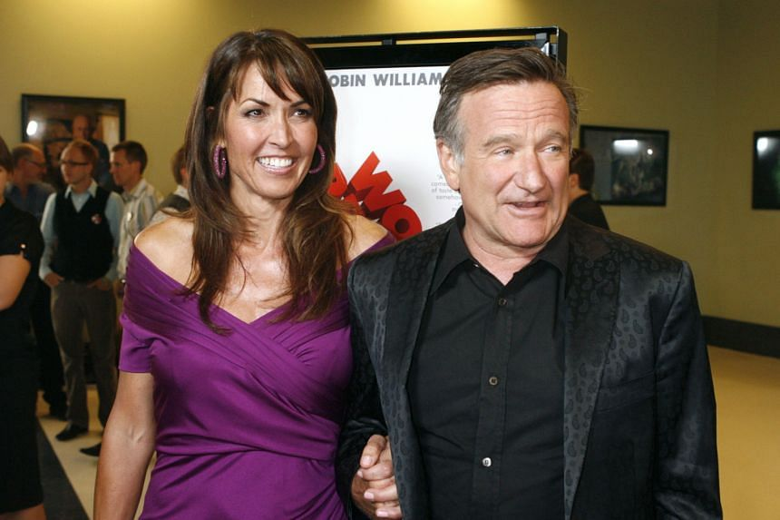 The late Robin Williams with his wife Susan at a film premiere in Los Angeles, California, in 2009. His widow said in an interview earlier this month that before the actor committed suicide last year, he probably had only three years to live because