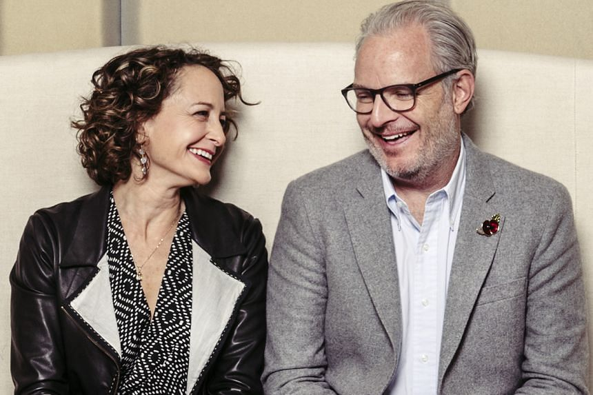 The Hunger Games producer Nina Jacobson and director Francis Lawrence, who helmed Mockingjay Part 2.