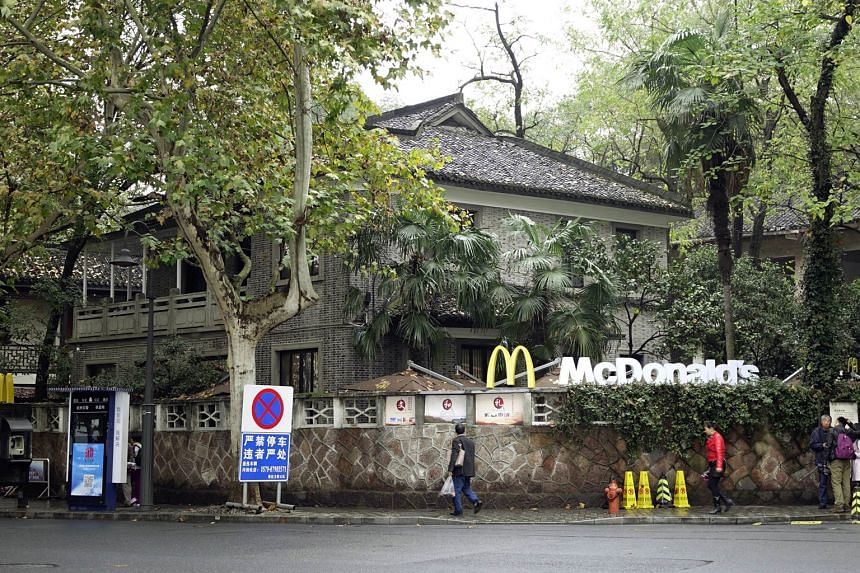 The McCafe opened in Hangzhou near the West Lake tourist spot in the former home of late Taiwanese President Chiang Ching-kuo, son of Kuomintang chief Chiang Kai-shek.