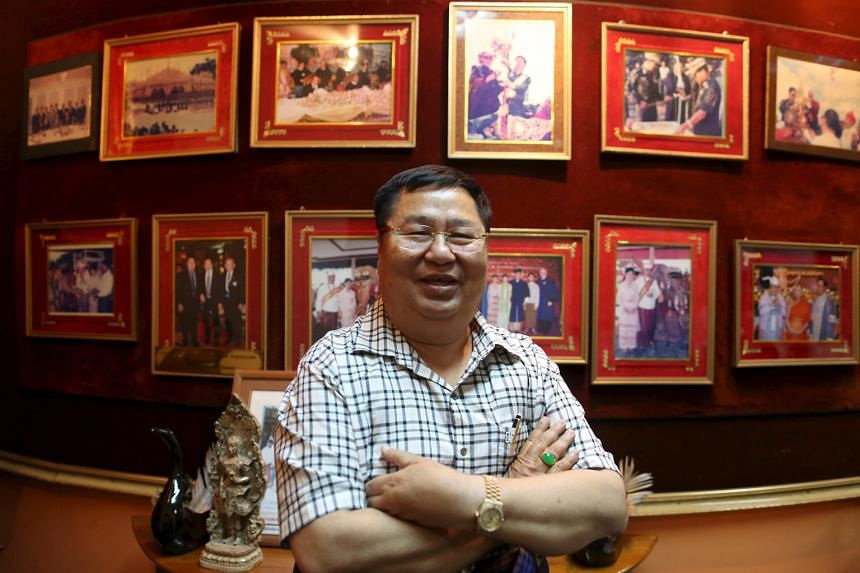 Mr Khin Shwe, chairman of Zaykabar, in his Yangon office. He said his firm is in pole position to team up with global investors lured to Myanmar by Ms Aung San Suu Kyi's clean image and a renewed push for reform.