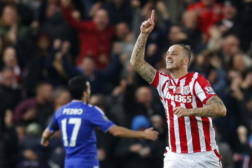 The 0-1 loss to Stoke City, with Marko Arnautovic (above) on target, was the third consecutive defeat in the league for Chelsea before the international break provided a reprieve from the unrelenting flow of setbacks. Manager Jose Mourinho has backed