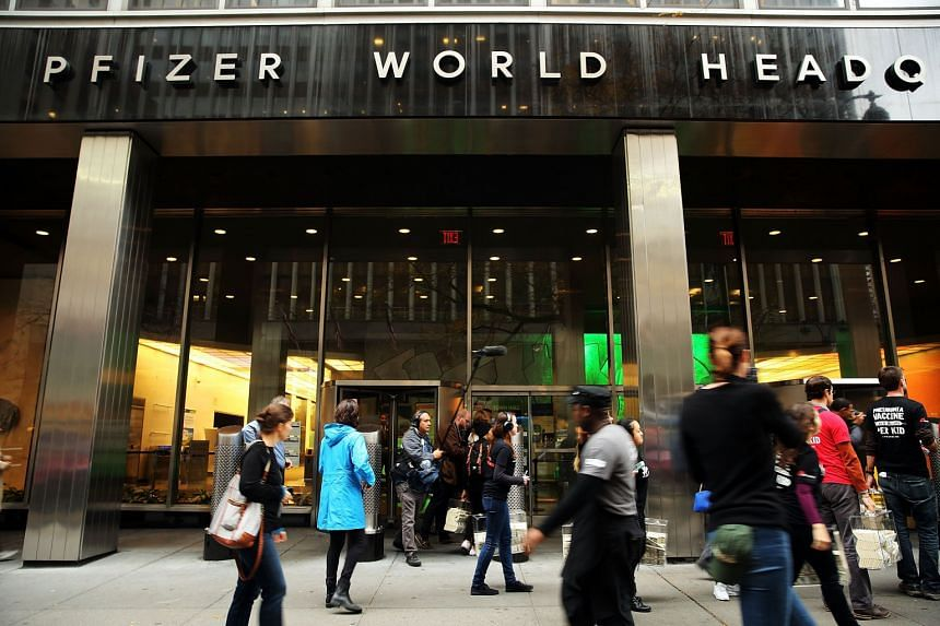 Pfizer's corporate headquarters in midtown Manhattan. The proposed US$150 billion ($212 billion) deal between the New York-based company and Allergan would see the former change its domicile to Ireland, where Botox-maker Allergan is registered.