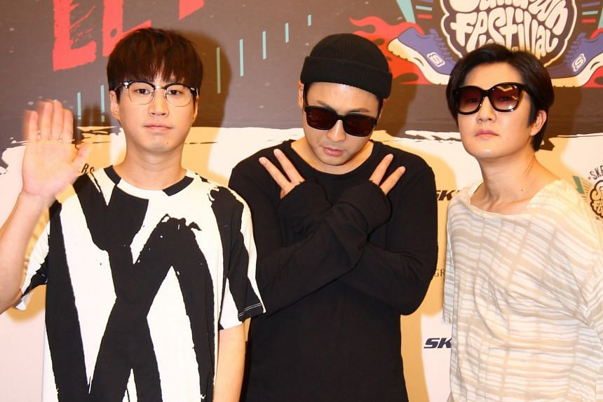 Epik High's (from far left) Tablo, Mithra Jin and DJ Tukutz.
