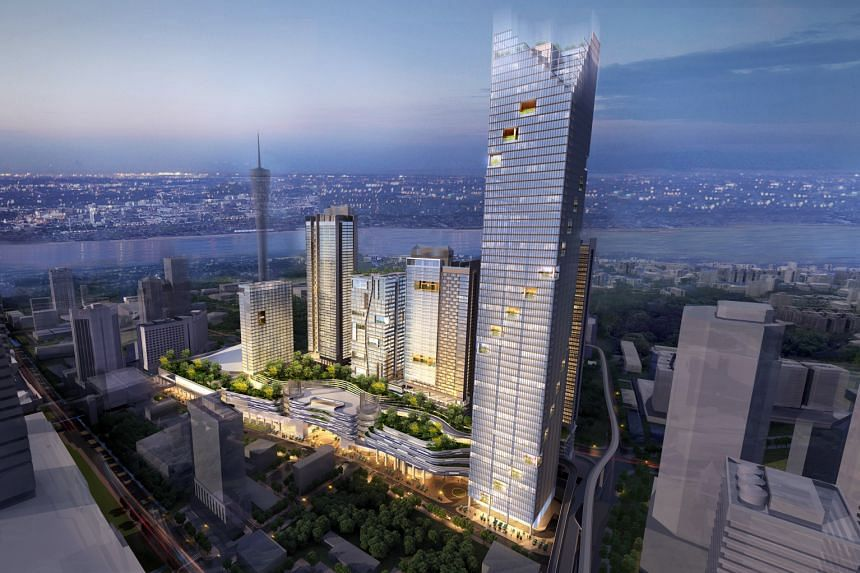 "Officials said the jewel of the upcoming business district will be the 2.6-ha Coronation Square, which will contain serviced apartments, an office tower, a hotel and retail podium and ""medical suite"". PHOTO: CREATIVE CREED"